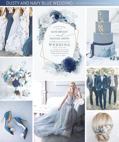 wedding cakes gold dusty blue and navy blue wedding cake, gold foil glitter geometric frame and slate blue hydrangea wedding invitation, floral grey blue bridesmaids dresses, ombre blue shades flowers bouquet, dark blue velvet groomsmen suits . Navy Blue Wedding Cakes, Dusty Blue Weddings, Burgundy Wedding, Orange Weddings, Blue Wedding Themes, Pastel Blue Wedding, Blue Themed Weddings, Velvet Wedding Theme, Periwinkle Wedding