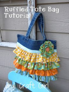 Ruffled Bag Tutorial is Here! found at jedicraftgirl.com