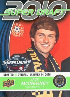 2010 Upper Deck MLS Soccer #182 Jack McInerney RC Philadelphia Union Rookie Trading Card by Upper Deck MLS. $1.99. 2010 Upper Deck Co. trading card in near mint/mint condition, authenticated by UpperDeck