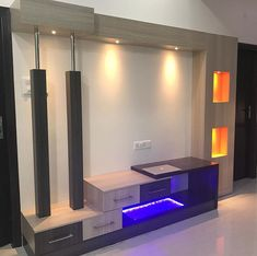 Photo by Lucentoffice on September Lcd Unit Design, Lcd Wall Design, H Design, Tv Unit Furniture Design, Tv Unit Interior Design, Tv Cabinet Design Modern, Tv Unit Decor, Tv Wall Decor, Living Room Tv Unit Designs