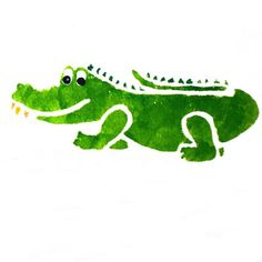 Pix For > Crocodile Stencil