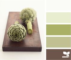artichoke hues - colour scheme for the bathroom reno this summer.