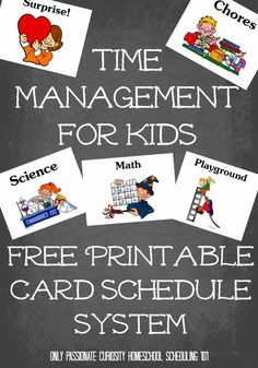 Homeschool Scheduling 101: Keeping Kids on Track {Free Printable Schedule System} -