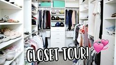 CLOSET TOUR   PACKING FOR NYC!