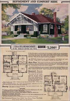 Sears Roebuck Kit Houses, 1923.  So similar to our first house in Winnipeg (built 1926)