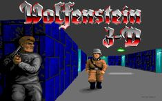 Wolfenstein 3-D. The first FPS game! I played back in 1992 and throughout the 90's. Great game with secret doors and hidden guns.