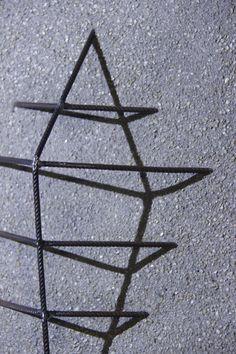 """SHIELD"" from the Sunken Steel Series. 68 x 46 cm - concrete & steel  contact: urbanreduction@gmail.com Steel Art, Concrete, Art Projects, Hair Accessories, Artwork, Work Of Art, Art Designs, Hair Accessory"