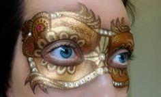 Gold Carnival Mask Face Paint #snazaroo