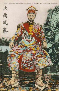 Annam (Vietnam) Hué - Empereur d'Annam. King Thành Thái. circa 1900.