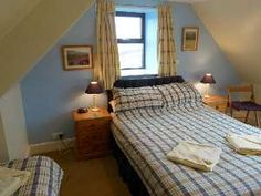 Dronach bedroom with double and single bed