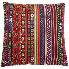 Gift Boutique Floral Pillow ($51) ❤ liked on Polyvore featuring home, home decor, throw pillows, multi, embroidered throw pillows, flowered throw pillows, floral toss pillow, floral accent pillows and colored throw pillows