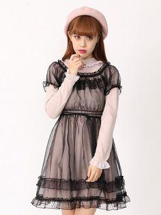 Ank Rouge Tulle Frill Dress $75 // 8500 yen - チュールフリルワンピース
