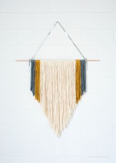 DIY Easy Macrame Wall Hanging via Love From Ginger | lovefromginger.com