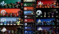 Skylanders collection wall
