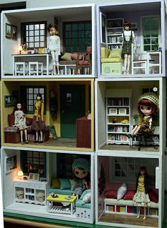 """Great use of simple boxes to  create a 1:6th scale """"house"""""""