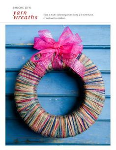 burlap yarn wreath from shopruche.com