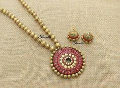 Terracotta Jewellery Online, Terracotta Jewellery Designs, Thread Jewellery, Fashion Jewellery, Funky Jewelry, Jewelry Ideas, Designer Jewelry, Jewelry Design, Teracotta Jewellery
