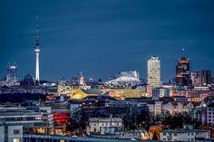 BERLIN Panorama by night