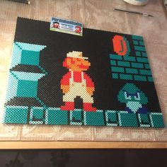 Mario perler bead art by tyler_plurden