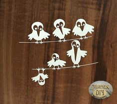 """Laser Cut Chipboard """"Birds on the wires"""" by SiberianDIYcraftsArt on Etsy"""
