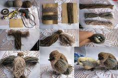 Tutoriel faire un oiseau en laine                                                                                                                                                                                 Plus