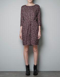 PRINTED PATTERNED DRESS - Dresses - Woman - ZARA United States