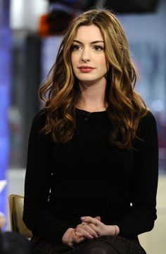 Anne Hathaway always has the most perfect hair.