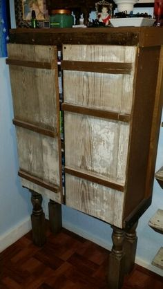 Bathroom cabinet from recycled materials