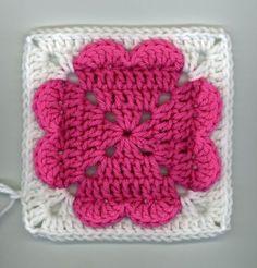 4-hearts granny square (free pattern)