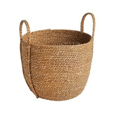 The Grainhouse™ Stitched Round Rush Woven Basket - Christmas Tree Shops and That! - Home Decor, Furniture & Gifts Store