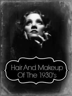 The Hair And Makeup Of The 1930′s. I want to recreate this shot....but without the cig.