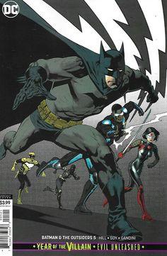 Batman And The Outsiders Comic Issue 5 Cover B Variant Modern Age 2019 Nowlan Batgirl, Supergirl, Comic Book Covers, Comic Books, Dc Comics, Brian Michael Bendis, Batman, Lex Luthor, Detective Comics