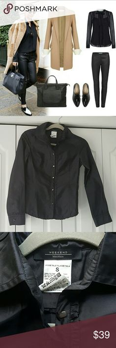 MaxMara silk button down blouse This beautiful blouse offers so many options.  Can be dressed up or down.  Gorgeous details.  Excellent condition. And such a bargain MaxMara Tops Blouses