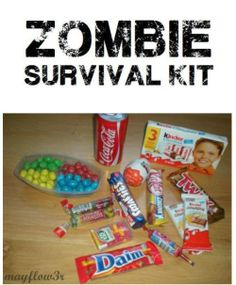 diy zombie survival kit with candy