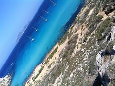 Bellissima Cala Rossa, Isola di Favignana, Sicilia.