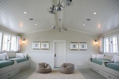 Beadboard ceilings are a great way to add texture to a room