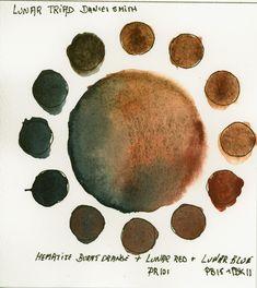 Triad made with Daniel Smith's Lunar Colors and Hematite Genuine