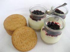 A falta de Lexatín... buenas son tortas: Cheesecake rápido en vasitos
