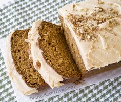 Pumpkin Bread with Pumpkin Buttercream Frosting!
