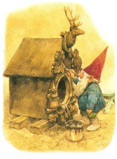 Work, work. That's  what Gnomies liked to do.  by Rien Poortvliet