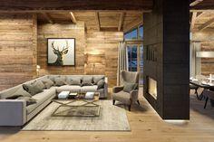 Innenraum Renderings für ein Chalet in Kitzbühel - Selina - kSresim Pin Ski Chalet Decor, Chalet Design, Chalet Chic, Chalet Interior, Chalet Style, Alpine Chalet, Alpine House, Interior Rendering, Best Interior Design