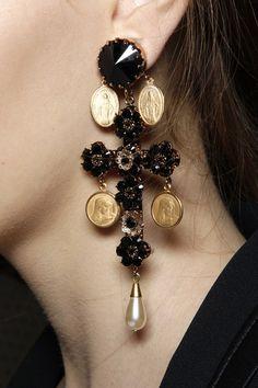 Dolce & Gabbana, runway earrings. +