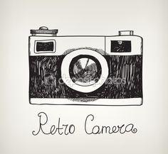 cámara de fotos retro hipster — Vector stock © Marylia #58774317