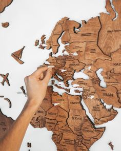 Home Decor Wooden World Map Rustic Wall Decor Printed World Map Weltkarte Holz Anniversary Gift For Boyfriend Enjoy The Wood World Map Wall Art, Wall Maps, Wooden Map, Wooden Walls, Rustic Walls, Rustic Wall Decor, Boyfriend Anniversary Gifts, Boyfriend Gifts, Color World Map