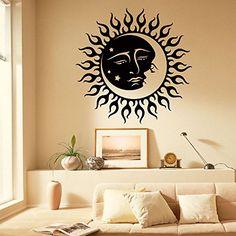 Wall Decals Vinyl Stickers Sun Moon Crescent Dual Ethnic ...