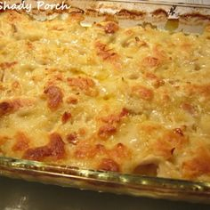 Chicken Dumpling Casserole.  Quick and easy.  Would also be perfect for leftover turkey at Thanksgiving.