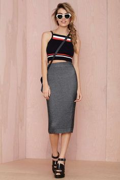Follow the Leader Ribbed Crop Top - Cropped   All   Clothes  