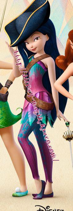 Ondine pirate Tinkerbell Movies, Tinkerbell And Friends, Peter Pan And Tinkerbell, Tinkerbell Fairies, Tinkerbell Party, Hades Disney, Disney Girls, Disney Art, Disney Princess