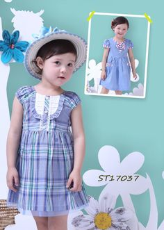 Wholesale Latest Safety Cheap Blue Checked Cotton Smocking Girl Casual Dresses,$ 3.20 ChildrenGirlsOEM Service.Source from Guangzhou Moonyao Garment Co., Ltd. on Alibaba.com.contact:moon01@moonyao.com   #GirlClothing #KidsClothing #GirlDress #KidsDress