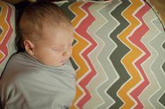Chevron nursery blanket and baby Ellasyn. Photographed by Caitlin Elizabeth Photography
